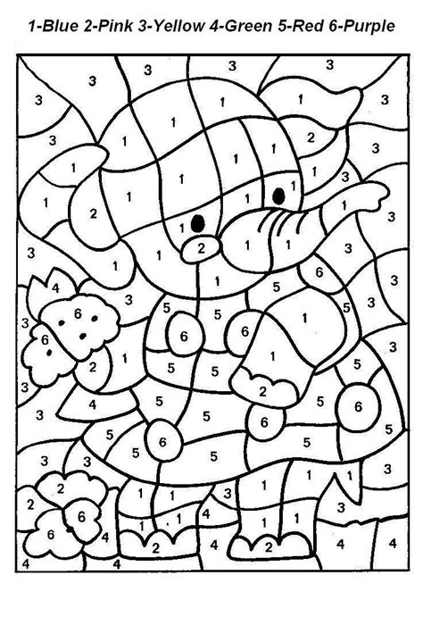 Numbered Coloring Pages free printable color by number coloring pages best