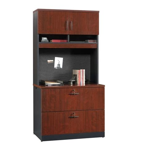 2 drawer file cabinet and hutch in classic cherry 419708