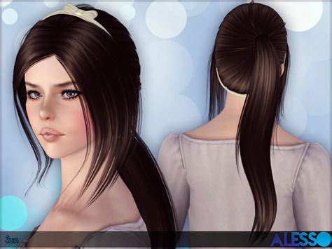 the sims 4 cc hair ponytail the sims resource tsr ponytail sun hair for females by