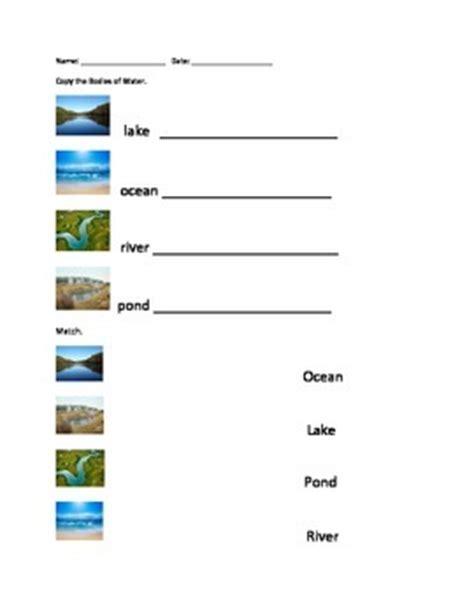 bodies of water worksheet bodies of water worksheet set by erin zaleski teachers