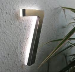 solar lighted house numbers modern led house number 5 quot outdoor by luxello led modern