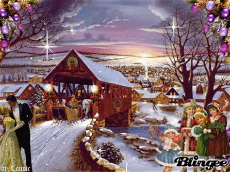 covered bridge christmas  joyful picture  blingeecom