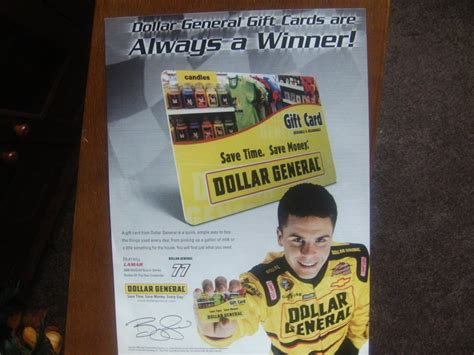 Gift Cards Sold At Dollar General - dollar general gift cards magazine print advertisement burney lamar