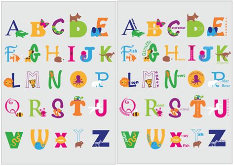 free printable alphabet letters posters animal alphabet posters free printable teaching