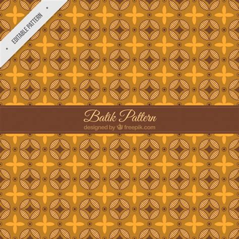 modern batik pattern vector vintage pattern of flowers and batik abstract shapes