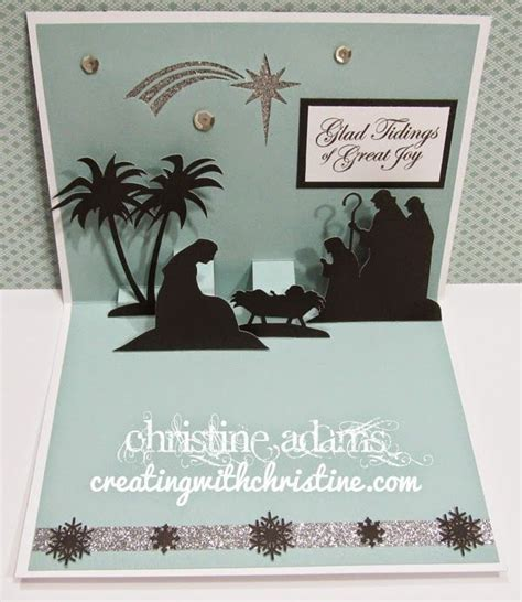 free nativity cricut three fold card template 25 unique pop up cards ideas on pop