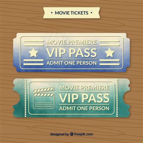 imagenes de boletos vip entradas de pase vip de cine descargar vectores gratis
