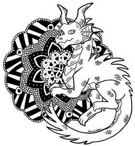 color me dragon mandala by theleatherdragoni on deviantart