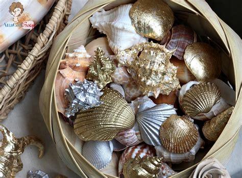shells decorations home gilded seashells home decor inspiration made simple