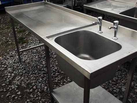 Used Stainless Steel Table With Sink For Sale Stainless