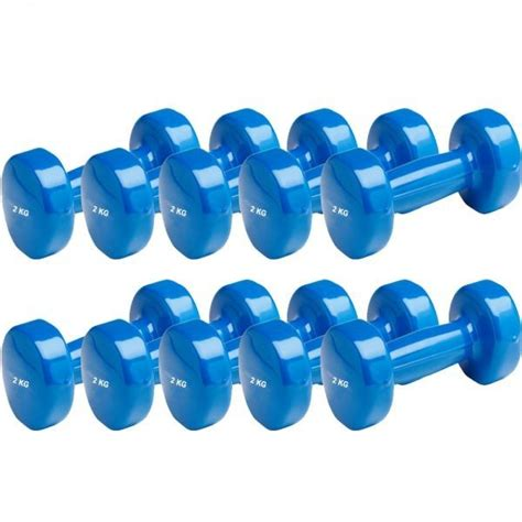 Dumbell Set 10 Kg vinyl aerobic dumbbells 5 set 2 kg dumbells dumbell dumbel dumbbel fitness dumbells sport