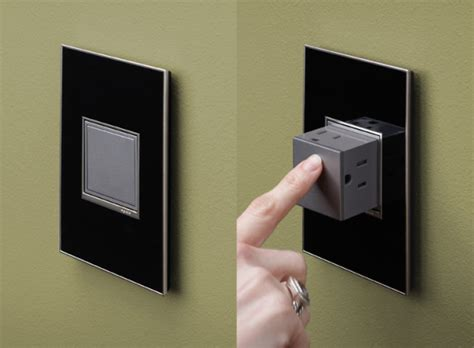 cool wall receptacle pop out power outlet stays hidden in the wall until needed