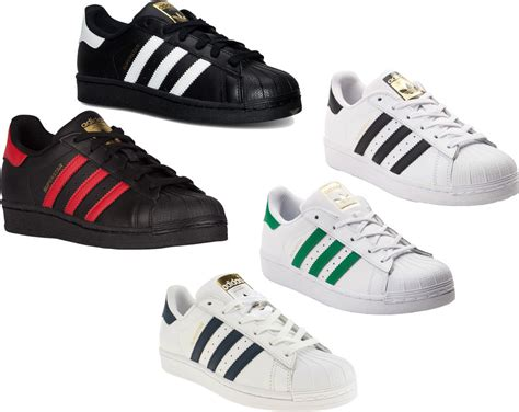 adidas originals superstar j shoes sneakers white black new ebay