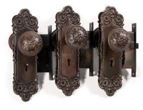three complete antique door hardware sets monaco by