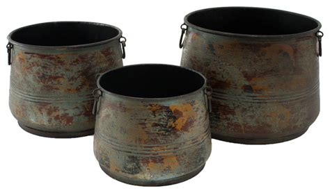 Decorative Plant Pots by Renley Decorative Planters Set Of 3 Traditional