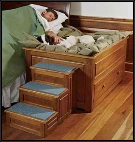 doggie stairs for bed a bed with a built in dog bedsid bunk bed plans with