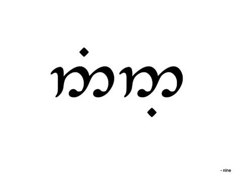nine in tengwar english mode font tengwar annatar