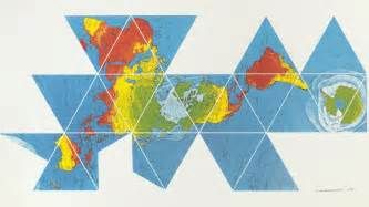 Undistorted World Map by Buckminster Fuller S Dymaxion Map Reveals The Near