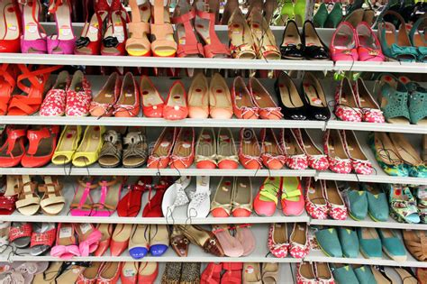 supermarket of shoes shoes in store editorial photo image of background