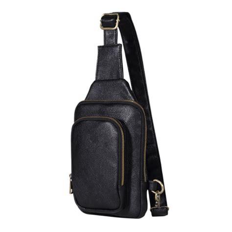 Tas Pria Kulit Selempang Poolo Mini One Black tas selempang kulit premium black jakartanotebook