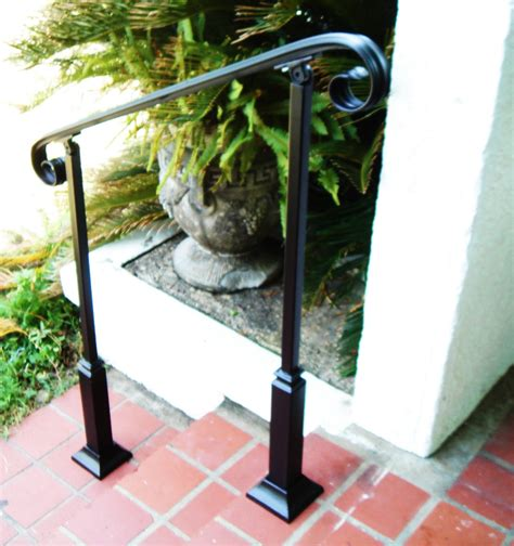 6 Foot Handrail 6 Ft Wrought Iron Handrail Step Rail Stair Rail With