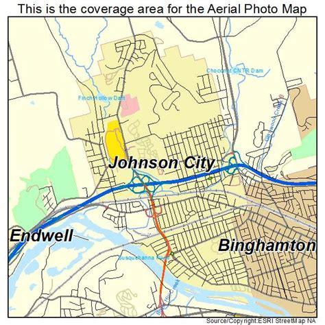 johnson city map aerial photography map of johnson city ny new york