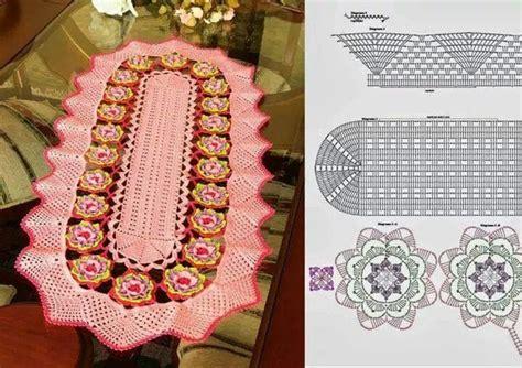 camino de mesa a crochet patrones de camino de mesa tejido con ganchilo cortinas