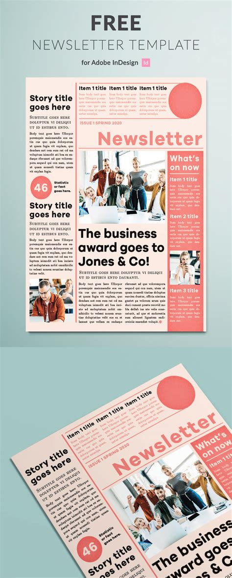 modern newsletter template indesign