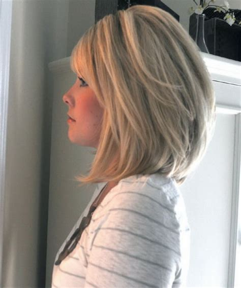 back view of mid length hair bob stacked hairstyles for medium length hair