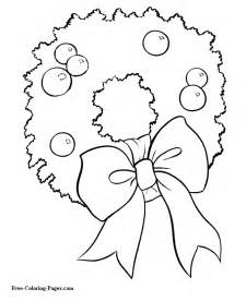christmas tree coloring page with ornaments collections