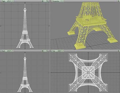 eiffel tower model template laser cuttable template for eiffel tower