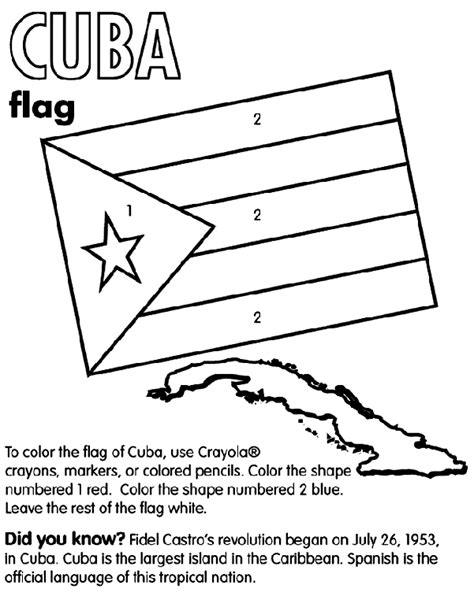 Cuba Flag Coloring Page Cuba Coloring Page Crayola Com by Cuba Flag Coloring Page