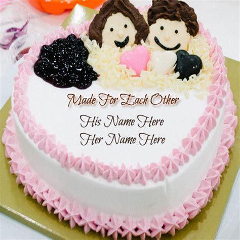 Wedding Anniversary Name Cakes by Write Name On Happy Anniversary Cake Greeting