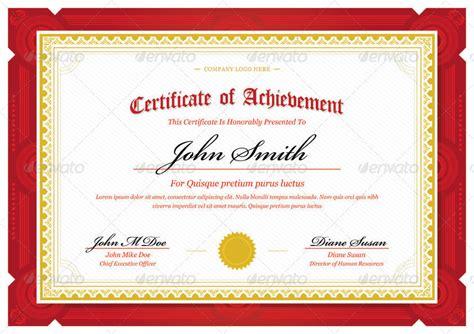 ribbon design template certificate red landscape