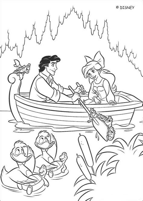 the mermaid coloring book great coloring book for fans of this wonderful books ariel and prince eric on a boat coloring pages hellokids