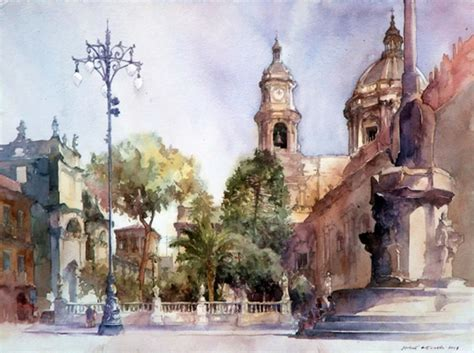 watercolor tutorial city must see urban watercolor paintings from different artists