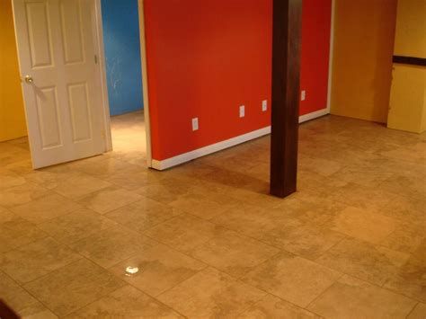 basement floor tiles and waterproof basement flooring