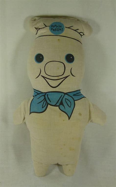 Set Doe Boy pillsbury dough boy poppin fresh cloth stuffed doll 13 in vintage pillsbury vintage