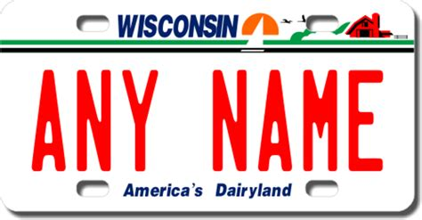 Wisconsin Vanity Plates by Personalized Wisconsin License Plate For Bicycles Kid S