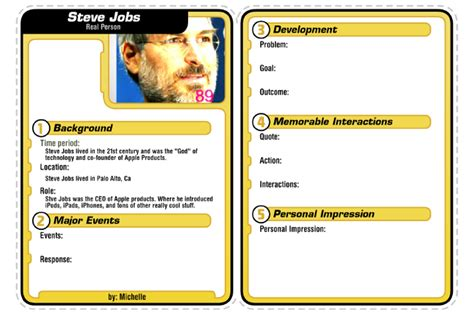 Biography Card Template by Trading Card Person Biography