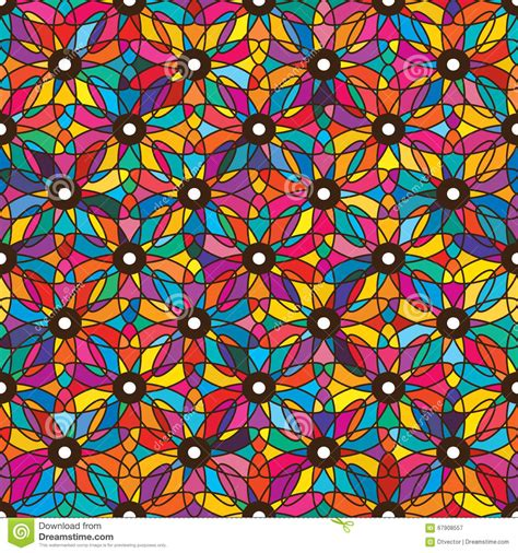 flower pattern in eyes eye flower colorful symmetry seamless pattern stock photo