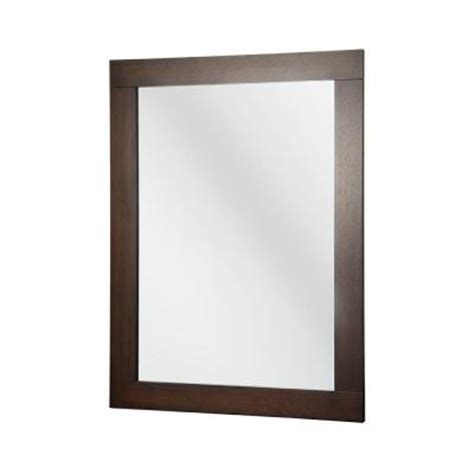 foremost 28 in x 38 in wall mirror in walnut