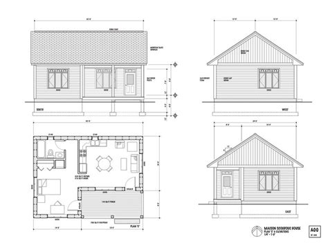 small one room house plans one room house layout the maison scoudouc house plan