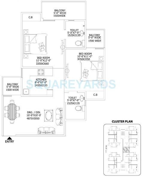 gaur city service apartments floor plan 2 bhk 930 sq ft apartment for sale in gaur city 2 11th