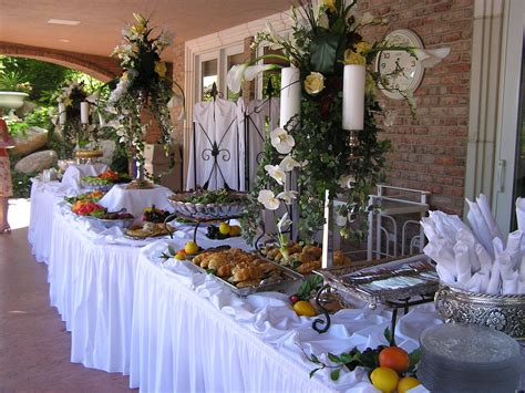 buffet table decorations pictures white
