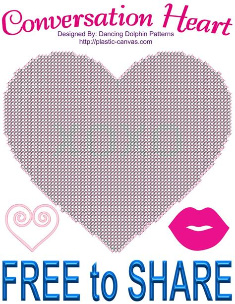 heart pattern for plastic canvas free conversation heart pattern plastic canvas