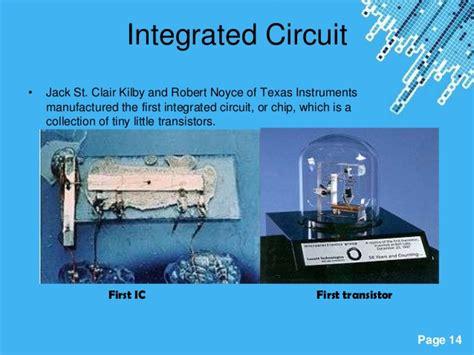 who invented integrated circuit computer evolution of computer