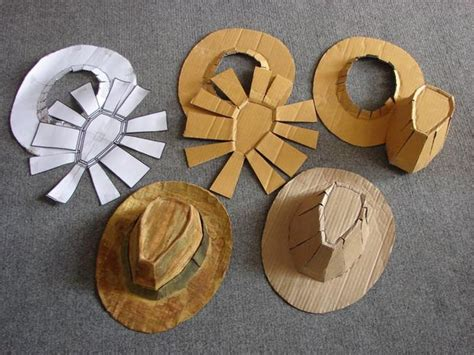 How To Make Hats Out Of Construction Paper - how to make a fedora indiana jones