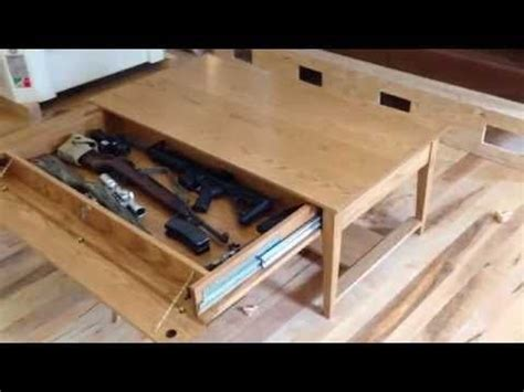 qline safeguard coffee table  hidden compartment