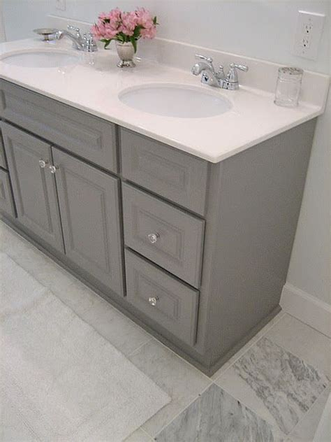 Where Can You Buy Bathroom Vanities Martha Stewart S Cement Gray Which You Can Find At Home Depot Kitchen Decorating Inspiration